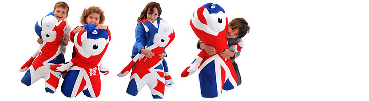 Wendlock and Mandeville Mascots for the London 2012 Olympics