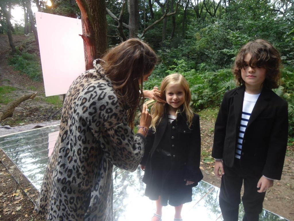 On the catwalk at Kids Fashion Week
